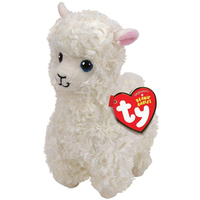 c6cb5fa296c Pyoopeo Ty Beanie Babies 6 quot  15cm Lily the White Llama Plush Regular  Stuffed Animal Collection Soft Doll Toy with Heart Tag