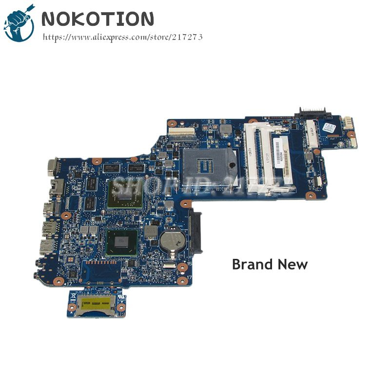 NOKOTION New H000052840 For Toshiba Satellite C870 L870 L875 Laptop Motherboard PGA988B SLJ8E HM76 DDR3 HD7610M Video card nokotion h000043480 laptop motherboard for toshiba satellite l870 c870 l875 17 3 inch hm76 hd4000 intel graphics ddr3 mainboard