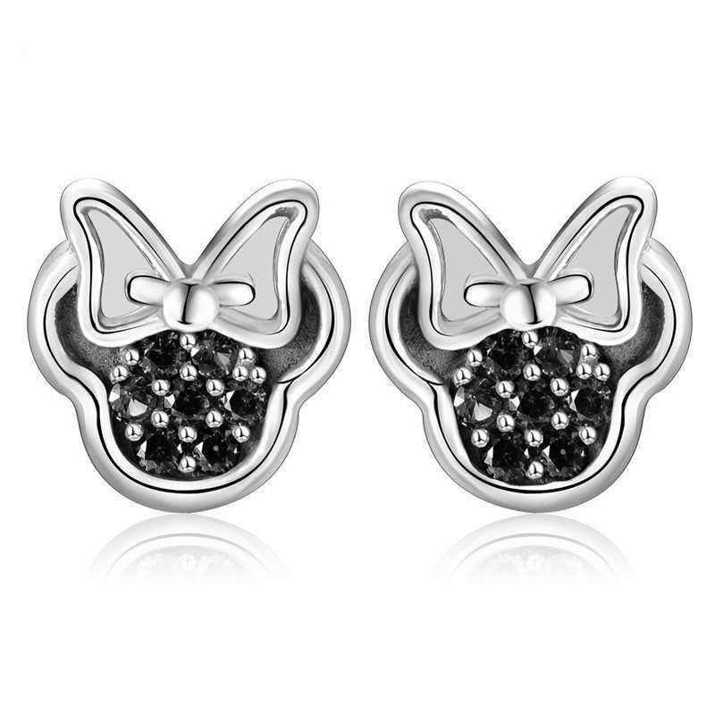 Octbyna Cartoon Mickey Minnie Stud Ohrringe Funkelnden Zirkon Anime Pan Ohrringe Für Frauen Kinder Mädchen Mode Geschenke Schmuck
