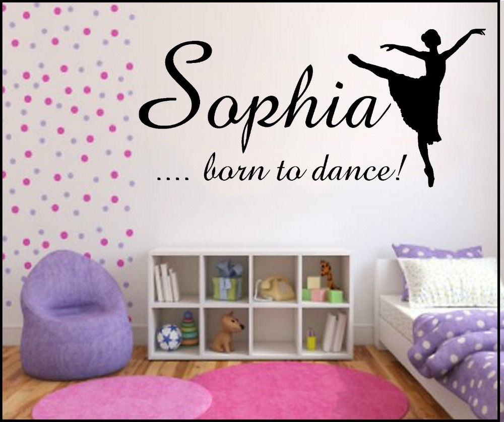 popular plastic text buy cheap plastic text lots from china c eco friendly art dancing girl text wall stickers decorate children s room nursery office removable