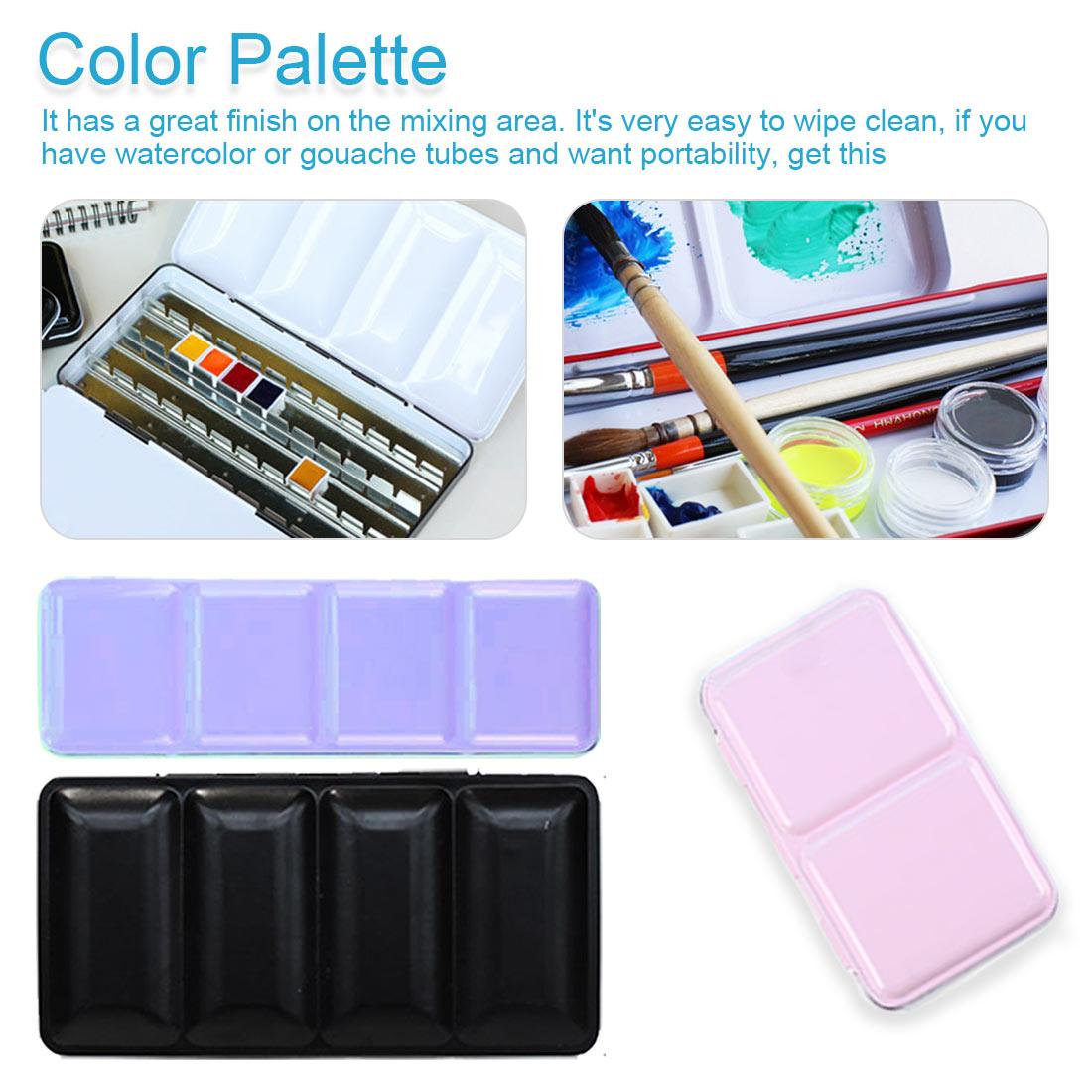 Watercolor Jar Palette Paint Box Metal Solid Watercolor Paint Empty Box 12/24/48 Grid Watercolor Empty Tin Box