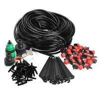 25m/10m/20m DIY Micro Drip Irrigation System Plant Self Watering Kit System Automatic Garden Hose Kits Connector For Garden