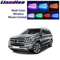 LiandLee For Mercedes Benz GLS GL MB X164 X166 Car Interior UnderDash FootWell Seat Accent Music Rhythm Ambient Light