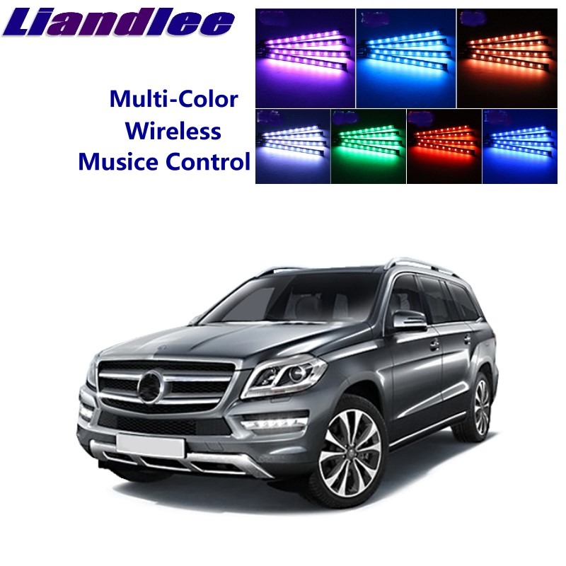 LiandLee For Mercedes Benz GLS GL <font><b>MB</b></font> <font><b>X164</b></font> X166 Car Interior UnderDash FootWell Seat Accent Music Rhythm Ambient Light image