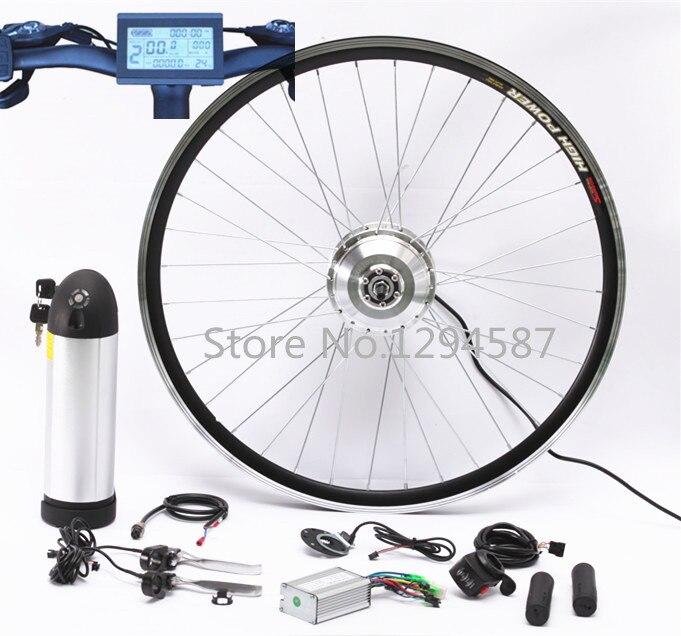 Все в один комплект 36В 350 Вт электрический велосипед набор преобразования с 36В 9ач воды бутылка литиевая батарея