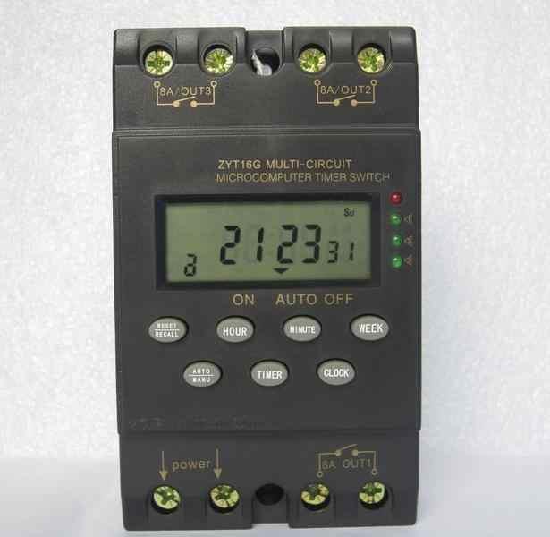 Wersja angielska, wysokiej jakości eksport, ZYT16G-3a wielokanałowy automatyczny program/programowalny wyłącznik czasowy 220V