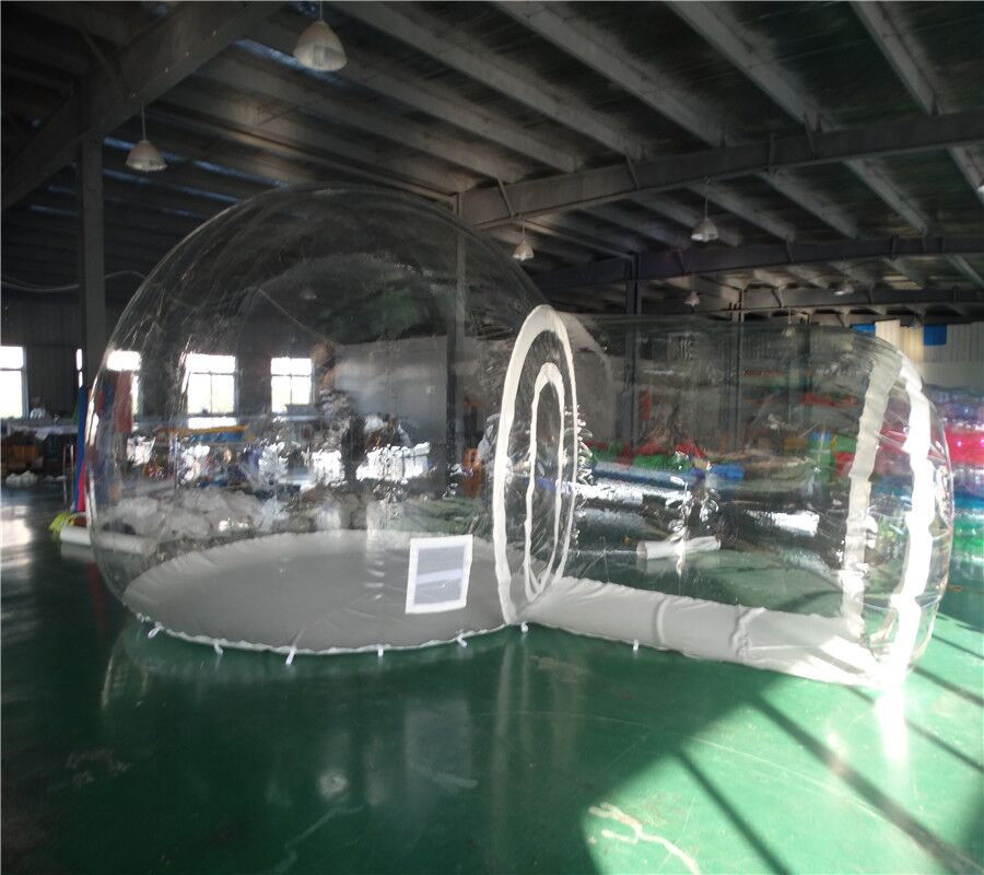 New Outdoor Single Transparent Tunnel Inflatable Bubble Camping Tent with Blower Outdoor Single Tunnel Inflatable Bubble Tent portable white inflatable arch tent inflatable tunnel for trade show come with air blower