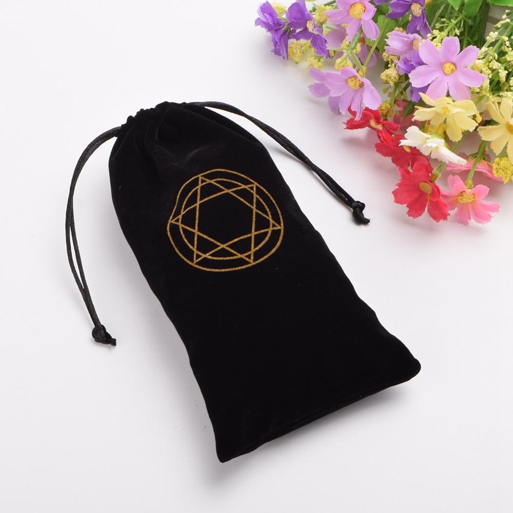 1pc Tarot Pouch Bag Case Hexagram Drawstring Bag Tarot Cards Wicca Pagan Storage