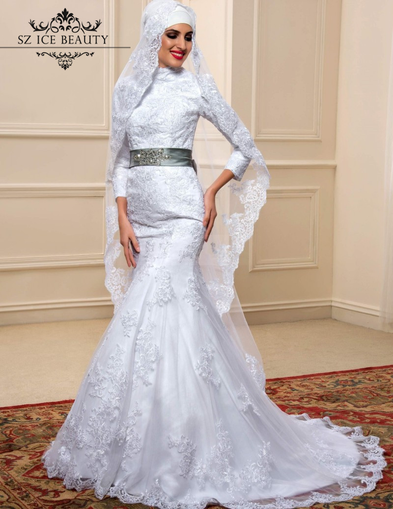 Popular Silver Grey Mermaid Wedding Dress-Buy Cheap Silver Grey ...