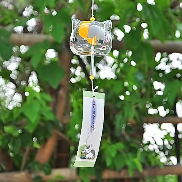 Japanese Style Glass Wind Chime Hanging Craft Wind Bell Home Decor Lovely Cat Pattern Multiple Style Bedroom Decoration in Wind Chimes Hanging Decorations from Home Garden