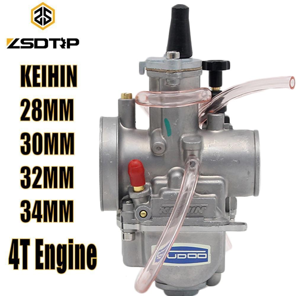 ZSDTRP Motorcycle 4T Engine Keihin Carburetor Carburador 28 30 32 34mm With Power Jet For Honda Yamaha Racing Motor original 26mm mikuni carburetor for cbt125 cb125t cbt250 ca250 carburador de moto