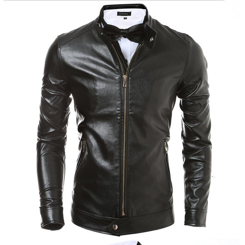 Calidad Para Los Hombres Chaqueta Nueva Delgado De Motocicleta La Abrigos Moda Hombre Negro Y Chaquetas Cuero Amazon marrón qZrZIw6