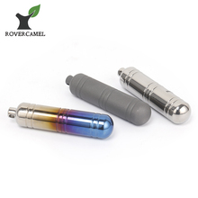 Rover Camel Outdoor Camping Mini Pill Box Sealed Waterproof Titanium Container with keychain Ta6108