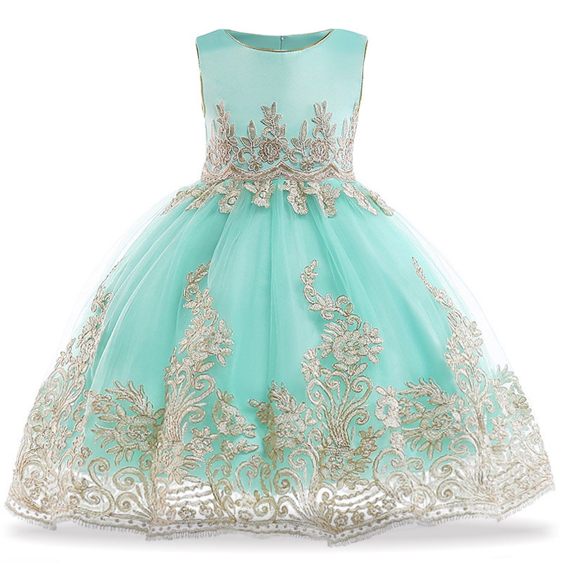 Girls Embroidery Party Dresses Elegant Toddler Princess Dress For Girls  Formal Prom Evening Kids Wedding Gown 27c6e3ae6924