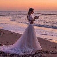 خمر لينة تول قطار طويل شاطئ تول التنورة لل سيدة جميلة ل زفاف الطابق طول توتو تنورة