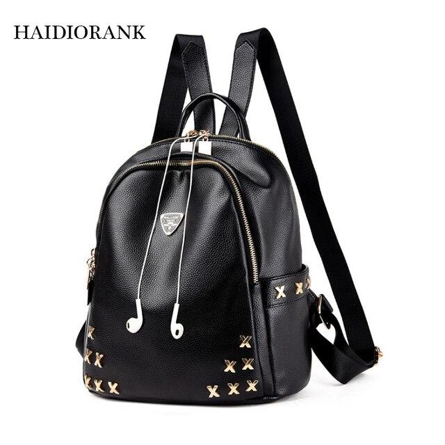 8ecc189393aa Women s Backpack 2018 Fashion School Backpacks For Teenage Girls PU Leather  Bag Waterproof Small BagPack Mini