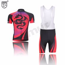49c7d6727 Amur Leopard Men Cycling Jersey Short Sleeve Breathable Gel Padded Bib Shorts  Set Printed Dragon(