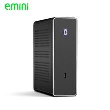 REALAN mini itx desktop di htpc case del computer E-C3 senza alimentazione SGCC 0.8 millimetri nero argento