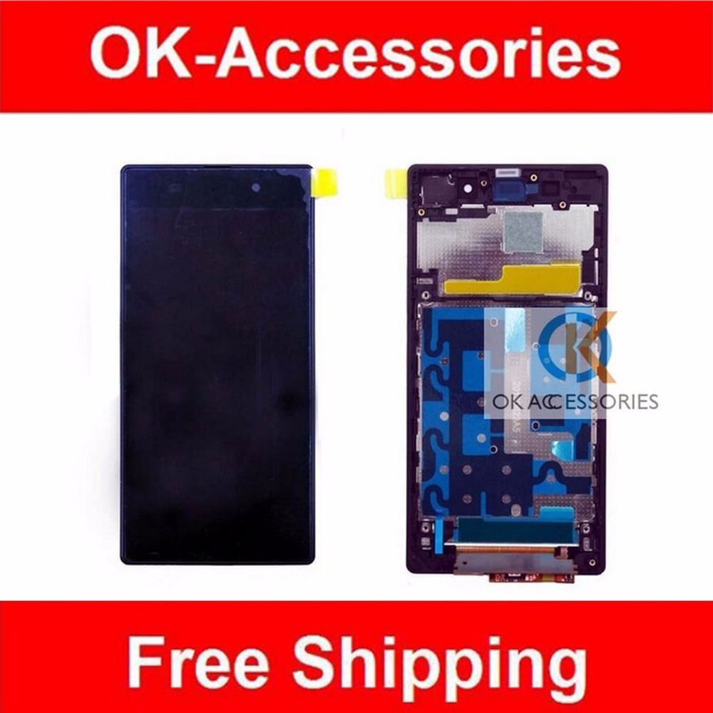 Подробнее о Purple Black White For Sony Xperia Z1 L39 L39H C6902 C6903 LCD Display+Touch Screen Digitizer+Frame+Tools 1PC /Lot 10pcs lot aaa 5 black white lcd for sony xperia z1 l39h lcd display touch screen digitizer frame assembly l39 c6902 c6903 dhl