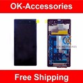 Purple Black White For Sony Xperia Z1 L39 L39H C6902 C6903 LCD Display+Touch Screen Digitizer+Frame+Tools 1PC /Lot