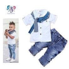 Garçons Boutique Vêtements Set Coton Enfants Designers Vêtements Écharpe Marque Garçons Tenues Bébé Garçon D'été Vêtements Enfants Costume