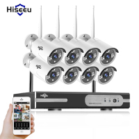WIFI CCTV System 8ch HD Wireless NVR Kits Bullet 1 0MP IP Camera IR CUT CCTV