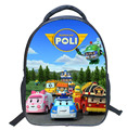 2016 Cartoon 14-inch POLI Schoolbags Children School Bag for Girls Minions Backpacks Boys Cool Kids bag Mochila Escolar Infantil