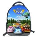 2016 Cartoon 14-inch POLI Schoolbags Children School Bag for Girls Minions Backpacks Boys Cool Kids bag Mochila Escolar Infantil