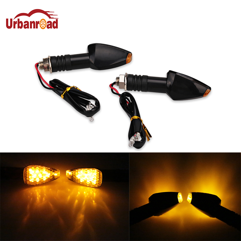 4PCS Universal Motorcycle Amber Blinker Turn Signal Light 12LED Indicators 12V