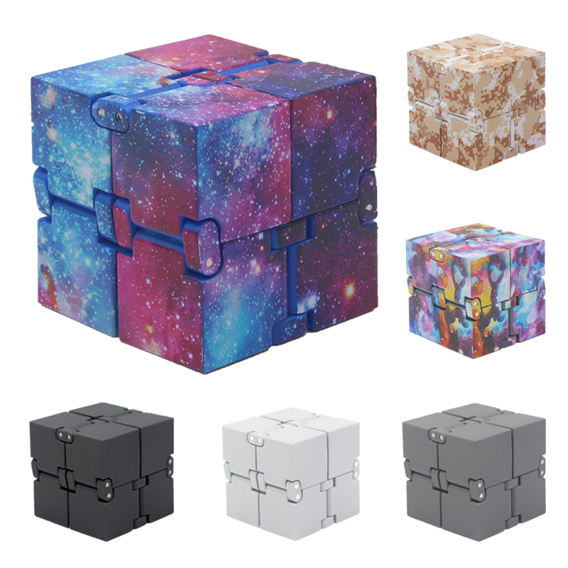 New Fashion Starry sky Infinity Cube Antistress Neo Magic Cube Mini Desk Toys Office Game Fidget Cube Spinner Adult ADHD Oyuncak цена 2017