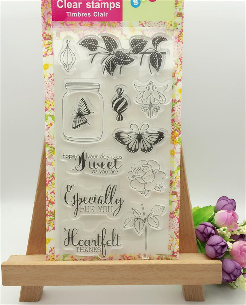 sweet candy and birthday cake Transparent Clear Silicone Stamp Seal for DIY scrapbooking photo album paper card LL-162 lovely bear and star design clear transparent stamp rubber stamp for diy scrapbooking paper card photo album decor rz 037