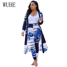 WUHE New Women Floral Print Two Pieces Outfits Jumpsuits Rompers Long Sleeve Elegant Bodycon Playsuits Femme Casual Work Wear