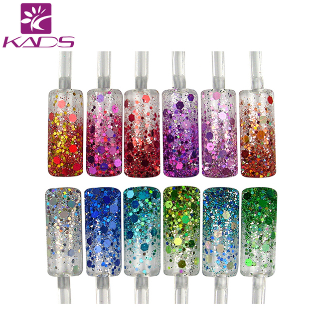 KADS Glitter Nail Powder. 12color Glitter Acrylic Powder Dust For Nail Art Tips for nail accessories for nail art tool
