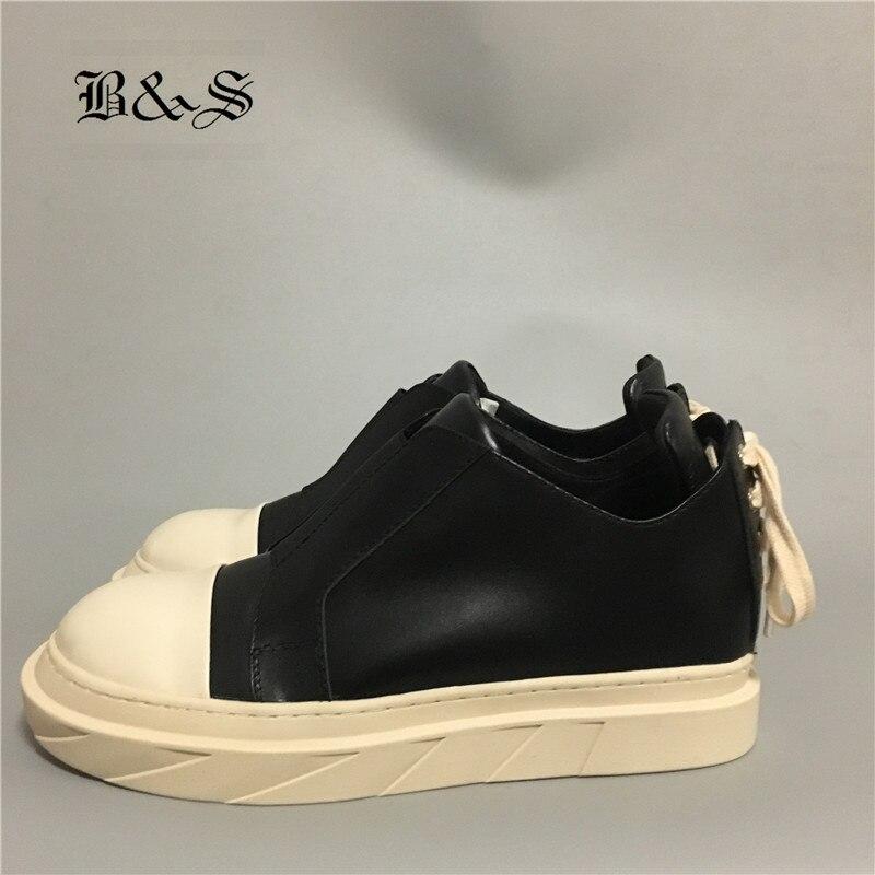 Noir En Hommes Personnalisé Scie Cuir Et Vache Véritable Plate Blanc Chaussures forme Bottes Dents Semelle De Rue Rock cl3FKJT1
