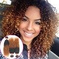Blonde Brazilian Kinky Curly Virgin Hair 1b 27,30 Ombre Kinky Curly Hair Weave Wet And Wavy Ombre Curly Weave Human Hair Bundles