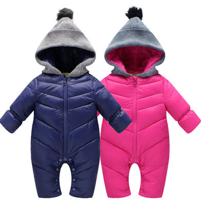 2017 Novos Meninos Das Meninas Do Bebê Roupas de Bebê Inverno Espessamento Criança Romper Quente Para Baixo Algodão Romper Roupas Recém-nascidos