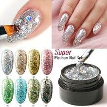 Azure Beauty Glitter UV Nail Gel Polish Super Shiny Glitter Led Nail Gel Varnish Diamond Sequins Led Hybrid Nail Lacquer super hybrid rice
