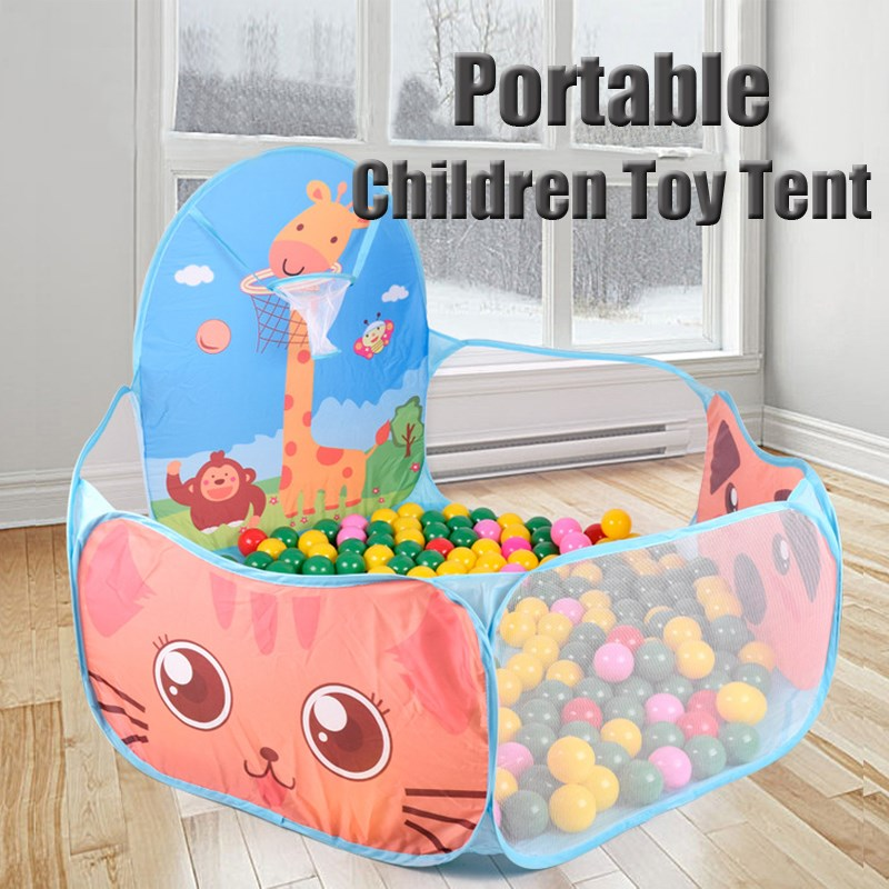 Kids Children Portable Ball Pit Pool Play Tent Hut Baby Indoor Outdoor Game Toys