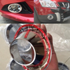 ABS Chrome Prective Cover For N Issan Qashqai 2007 2009 New 2PC Front Fog Lights Lamp
