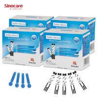 (200 stücke für Sicher-Accu) Sinocare Blut Glucose Getrennt Teststreifen und Lanzetten für Diabetes Tester