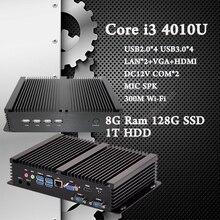 Micro PC 8 Г Ram 128 Г SSD 1 Т HDD Intel Core i3 4010U HTPC 4 К HD Linux XBMC Kodi DHL Бесплатная Доставка 3 Лет Гарантия на usb Мини ПК