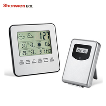 Wholesale prices TS-A92 Wireless Thermometer Indoor And Outdoor Temperature And Humidity Meter Weather Station Alarm Clock Electronic Wireless Th