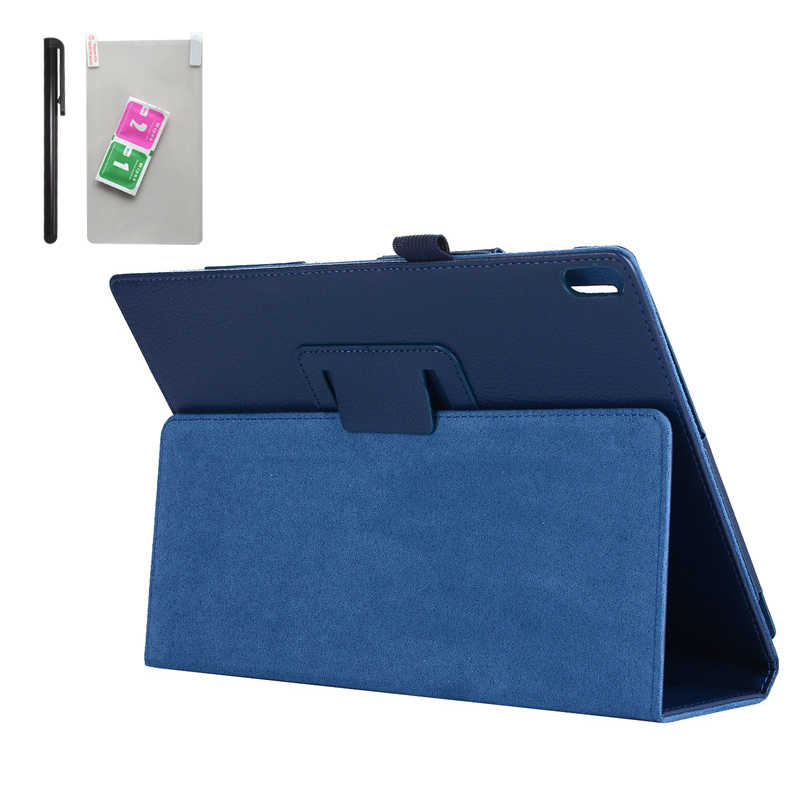 "Case for Lenovo Tab 4 10 TB-X304F X304L X304 PU Leather Tablet Cover Stand Capa for Lenovo TAB4 10.1"" Plus TB-X704F/L Film + Pen"