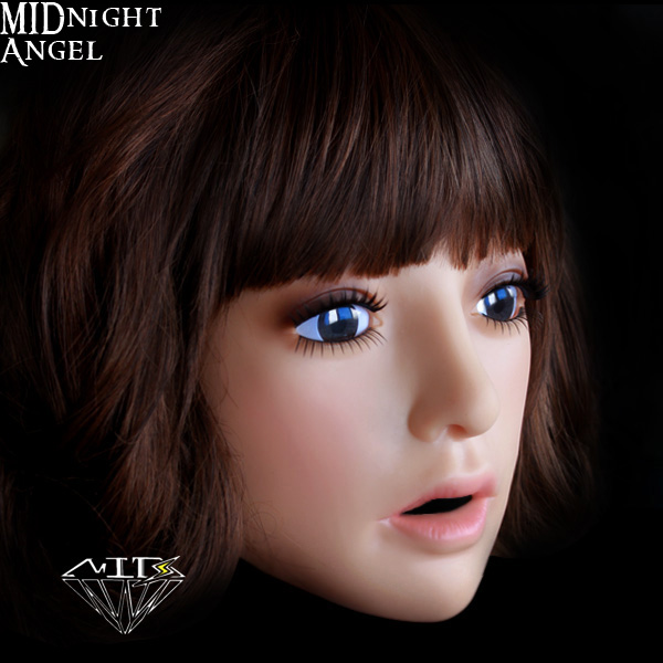 Sh 16 Midnight Angel Cross Dressing Movable Halloween Female Mask Gay Full Face Realistic Mask Sexy Sissy Boy Free Shipping