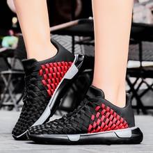 Rommedal womens handmade weave shoes new designer individual leisure breathable female sneakers flying lightweight footwear