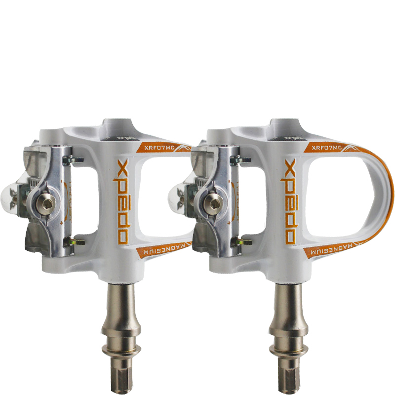 Pédales de vélo de route Wellgo en alliage de magnésium avec 1 paire de crampons compatibles look keo QRD-XRF07MC à pédales auto-bloquantes 235g