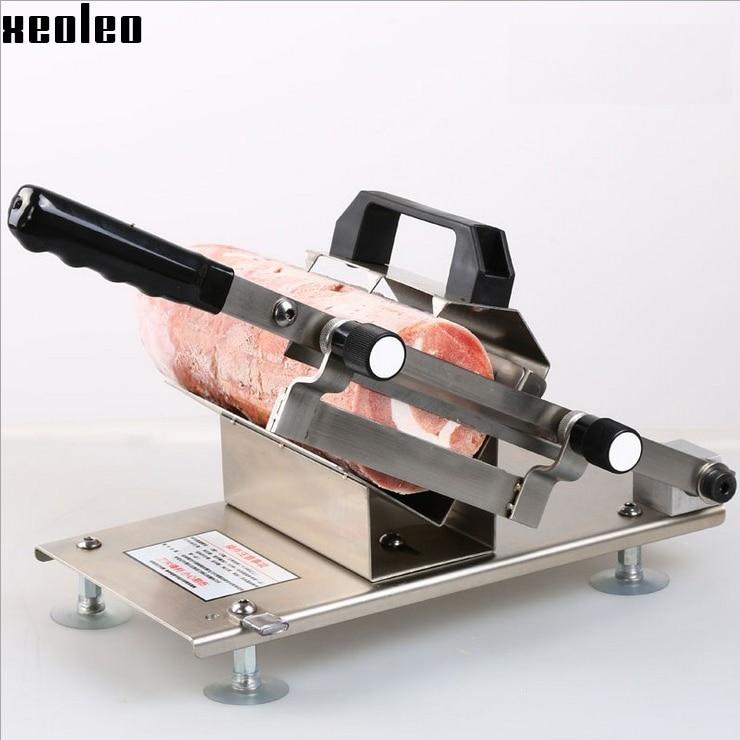 Xeoleo руководство нержавеющей стали ножи Слайсер для замороженных печенье/Печенье/желатин добавьте мясной нарезки 0.2-30мм резак машина