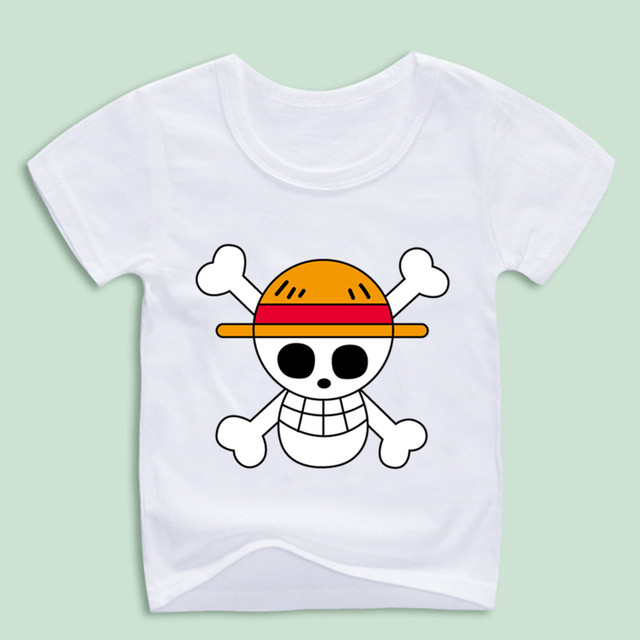 Boy And Girl Anime One Piece T Shirts Children Manga Monkey D Luffy