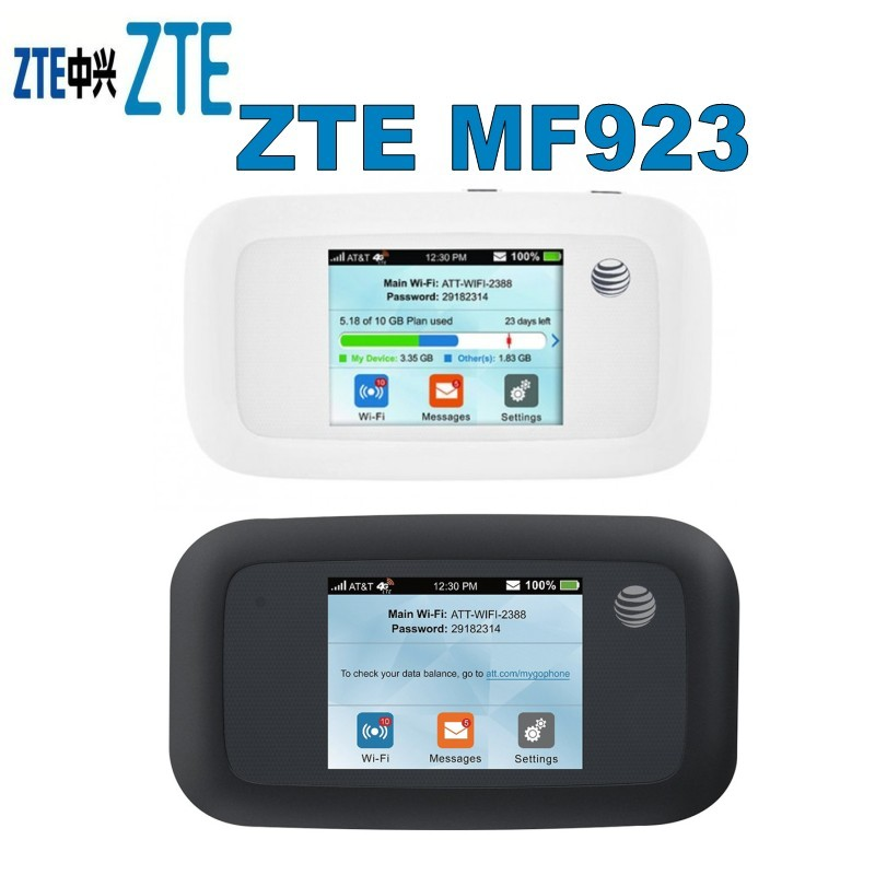 zte mf923 at t velocity 4g lte mobile hotspot unlocked. Black Bedroom Furniture Sets. Home Design Ideas