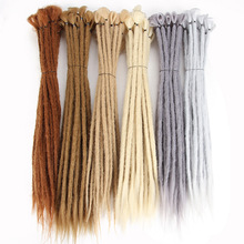 Blonde Dreads 20 դյույմ ձեռքի պատրաստված թրթռոցներ Extensions Fashion Reggae Crochet Hip-Hop Synthetic Dreads Crochet Braiding մազերը
